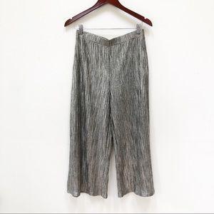 Zara Trafaluc Cropped Metallic Pants